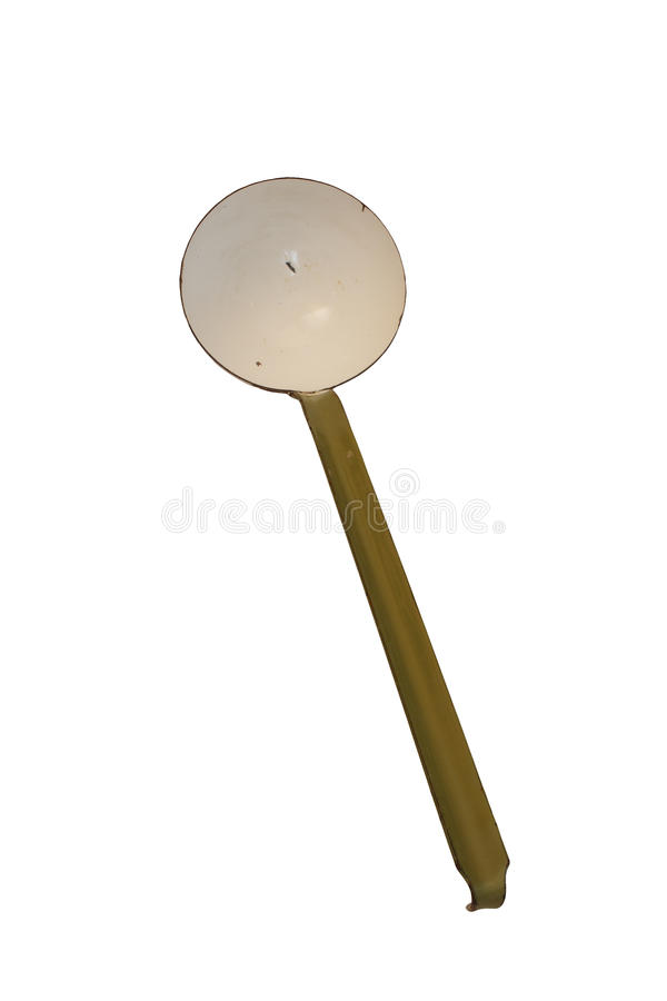 Isolated antique ladle royalty free stock photography