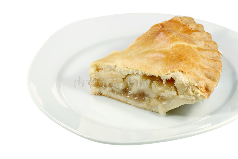 Download Isolated apple pie stock image. Image of white, pastry - 5179321