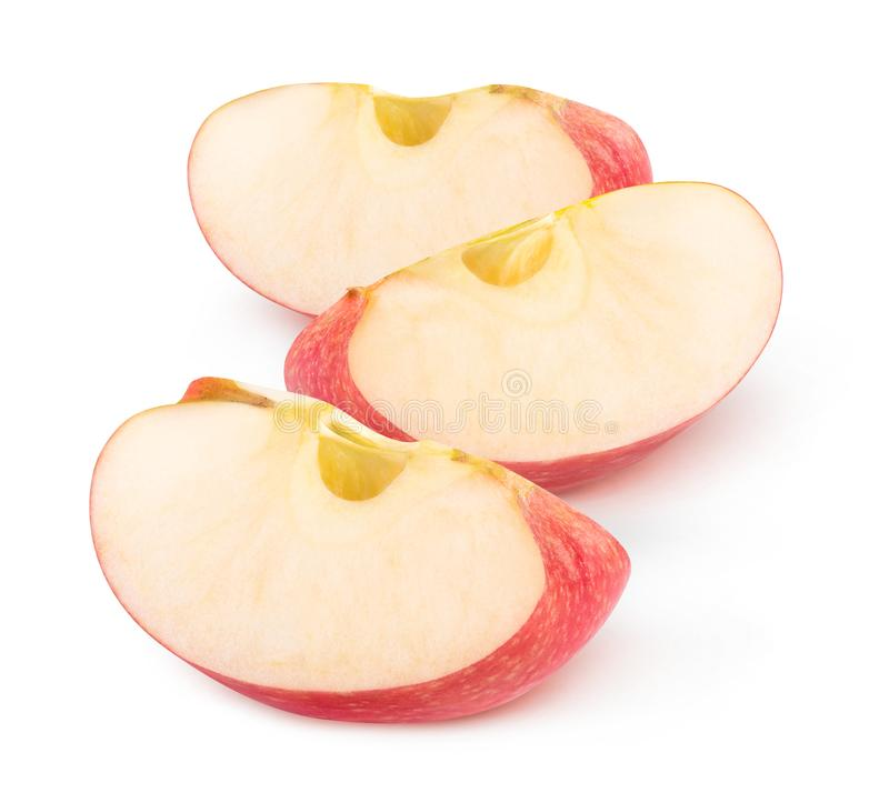 Isolated apple wedges stock image