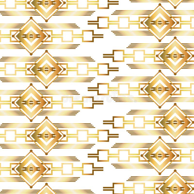 Isolated art deco background design stock illustration