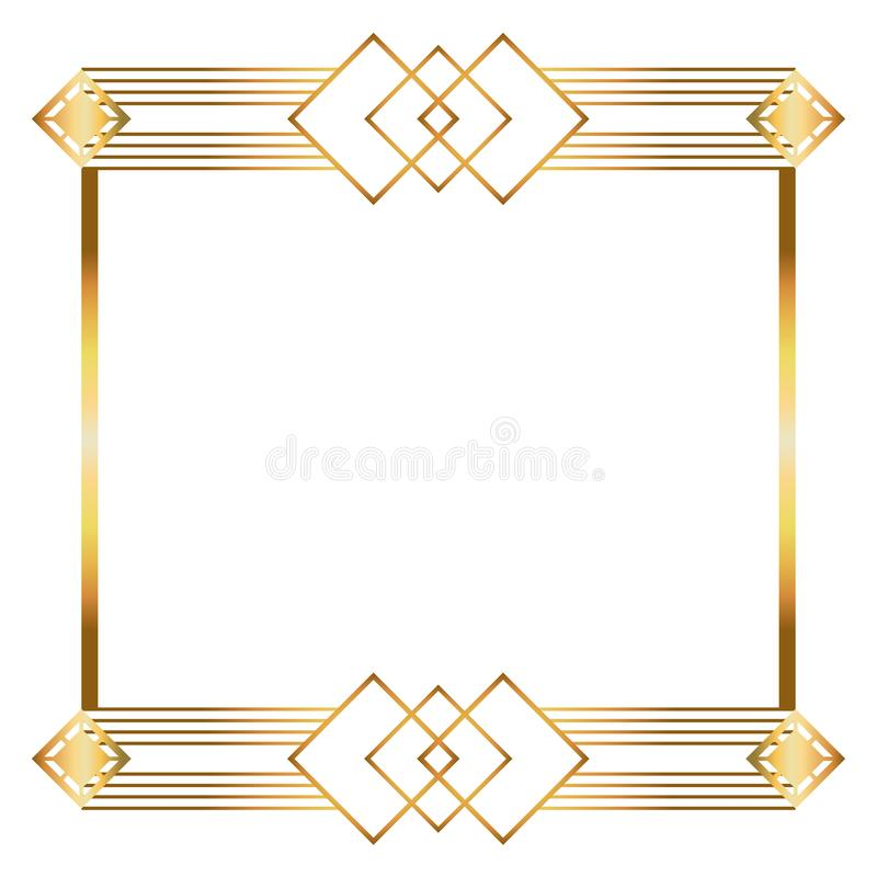 Free Isolated Art Deco Frame Design Stock Image - 154726541