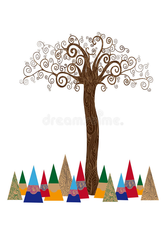 Isolated art tree concept stock image