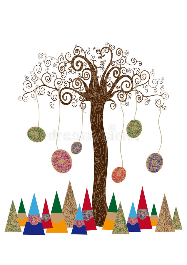 Isolated art tree concept royalty free stock images