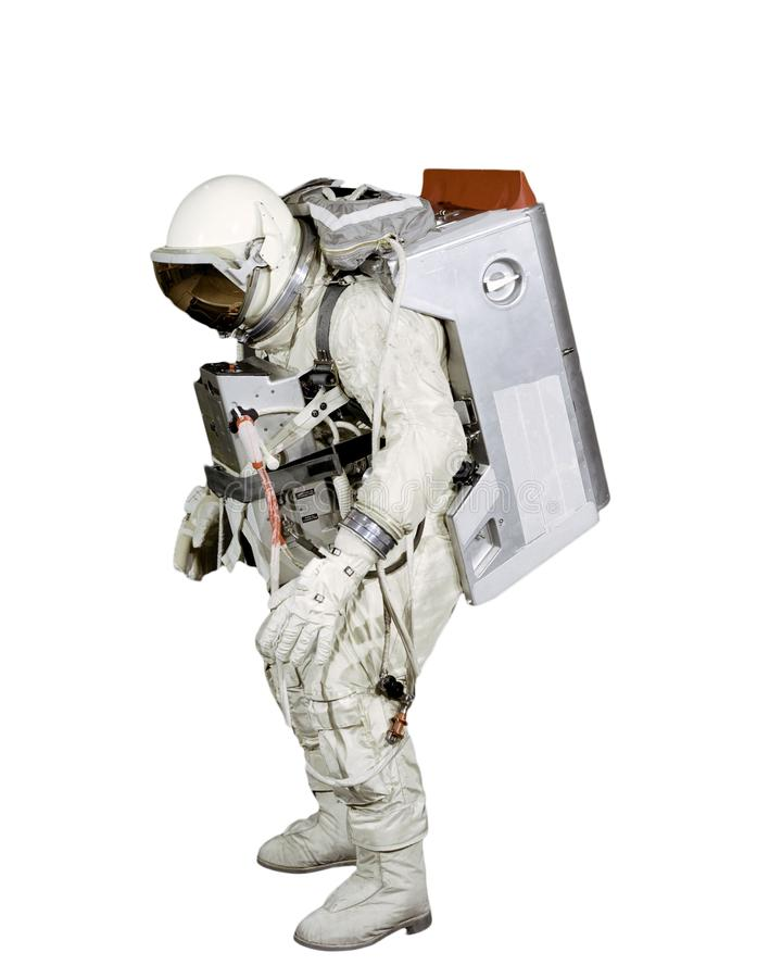 Isolated astronaut flying in space. Elements of this image furnished by NASA f royalty free stock images