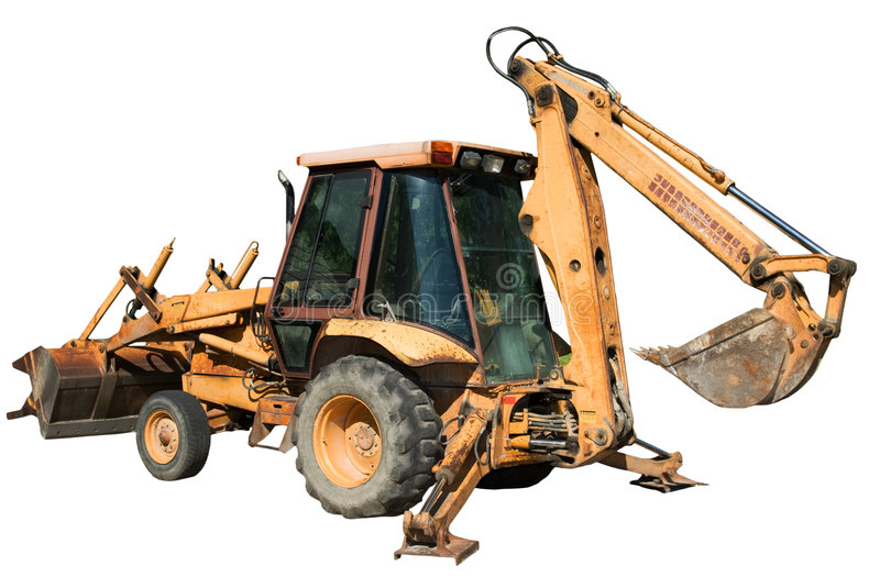 Download Isolated Backhoe Stock Photography - Image: 6058822
