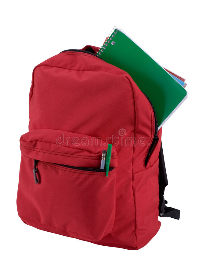 Isolated Backpack stock photography