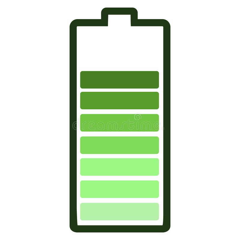 Isolated battery icon royalty free illustration
