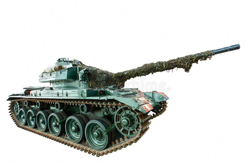 Isolated battle tank stock photos