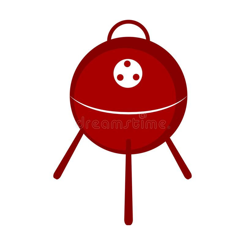 Isolated bbq grill icon royalty free illustration