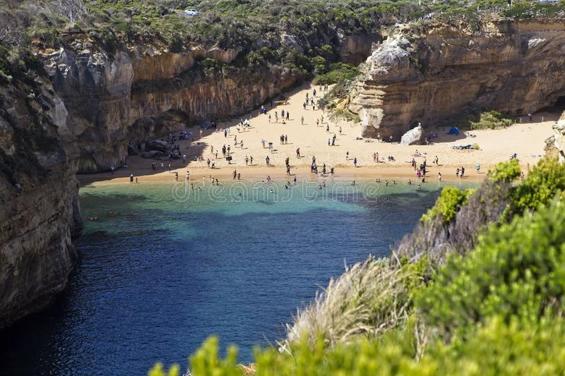 Isolated beach along the Great Ocean Road stock photo