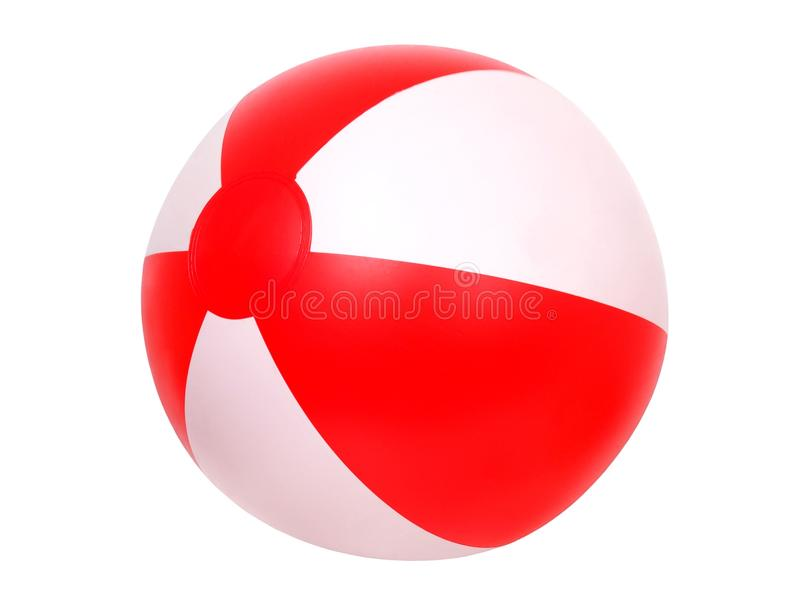 Isolated beach ball royalty free stock images