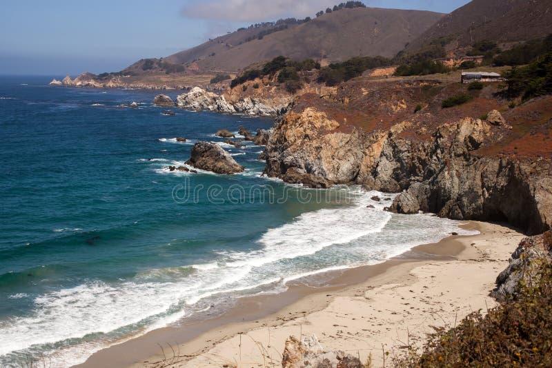 Isolated beach Big Sur California stock photos