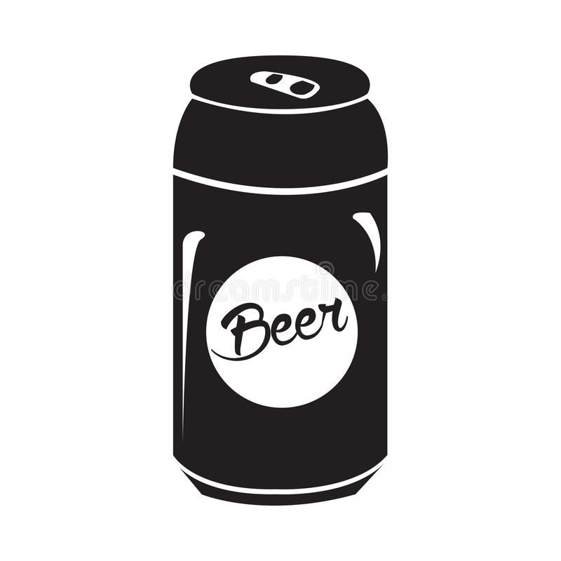 Free Isolated Beer Can Silhouette Stock Image - 87877111