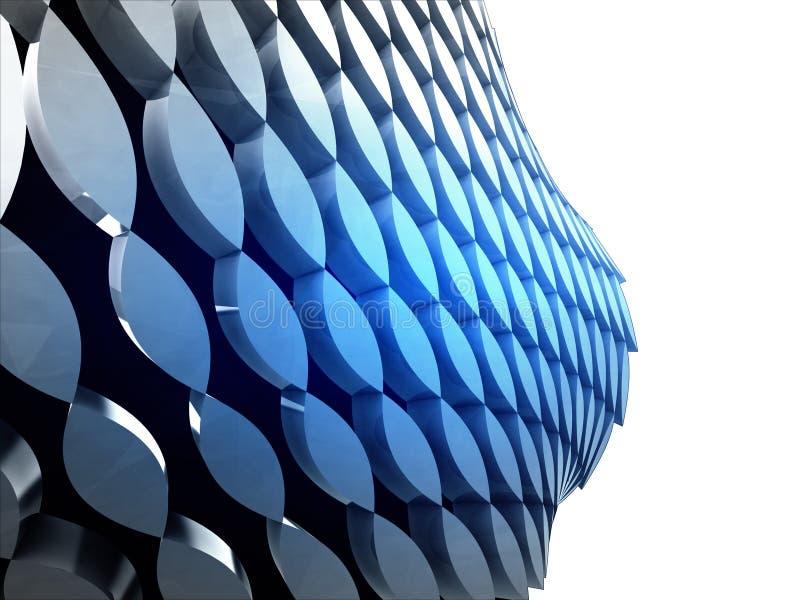 Isolated bended blue shape bulge wallpaper. Illustration vector illustration