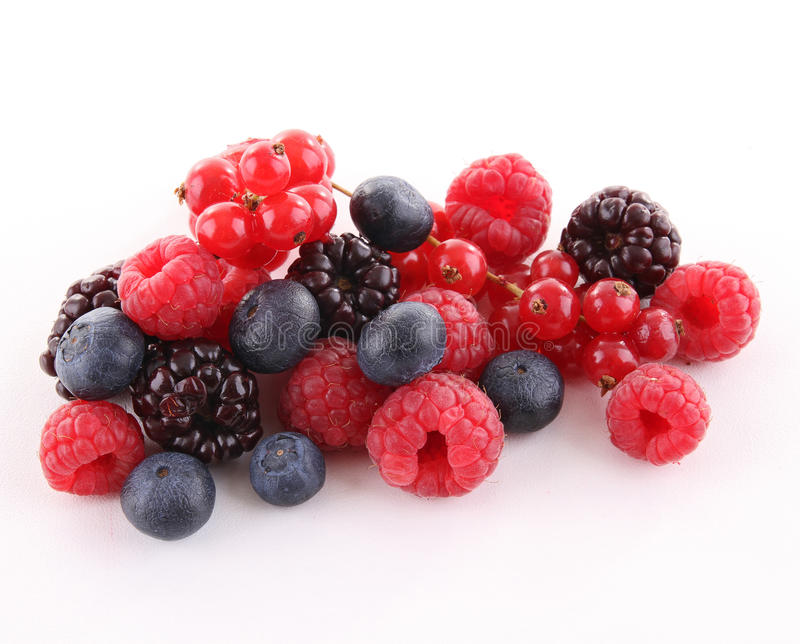 Isolated berries royalty free stock photos