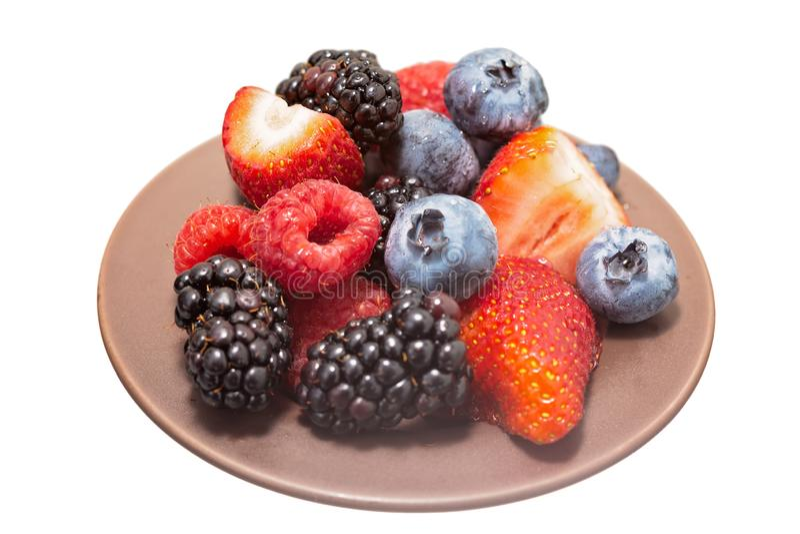 Isolated berries stock photo