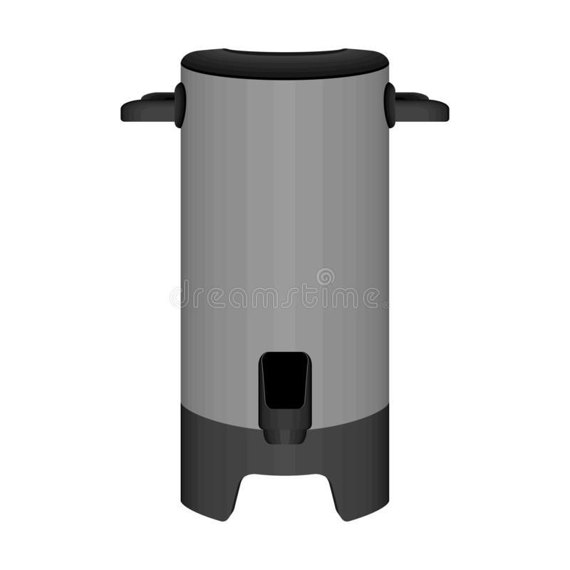 Thermos - Vacuum Flask (assembly Drawing) Stock Illustration