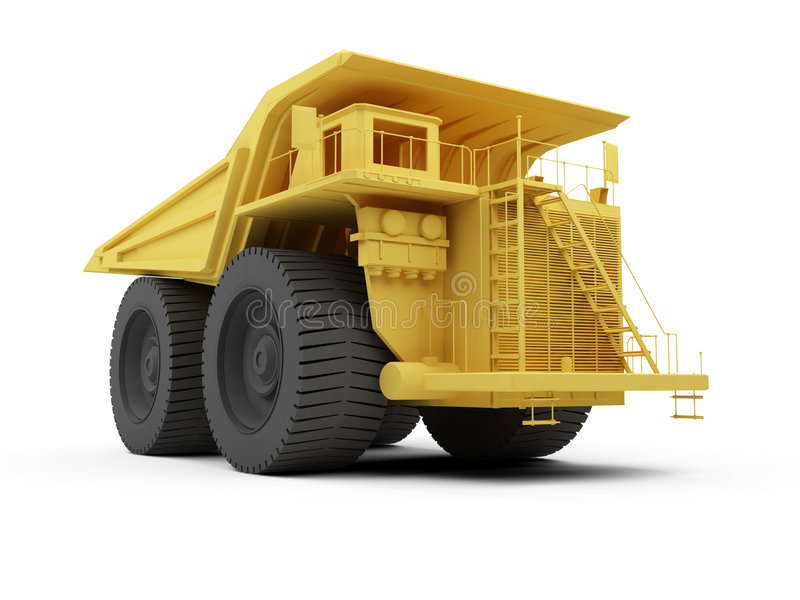 Download Isolated big dump truck stock illustration. Image of construction - 9229562