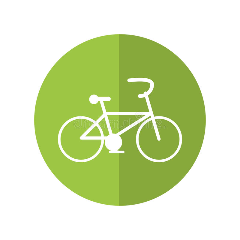 Isolated bike and healthy lifestyle design royalty free illustration