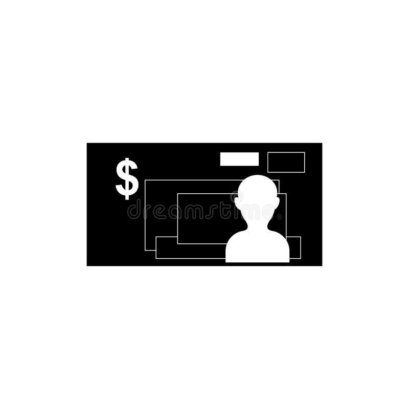 Isolated billet money. Icon illustration graphic design stock illustration