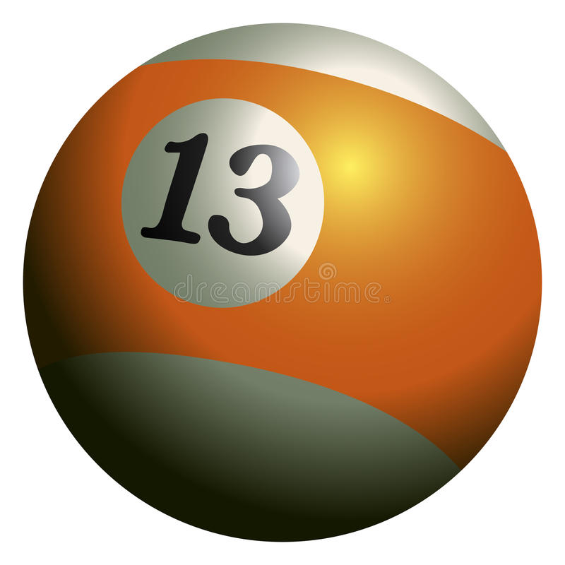 Free Isolated Billiard Ball Royalty Free Stock Image - 96715786