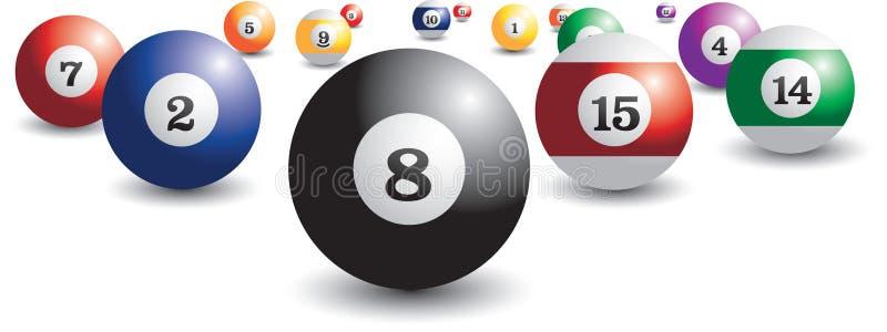 Download Isolated billiard balls stock vector. Illustration of gradient - 9699402