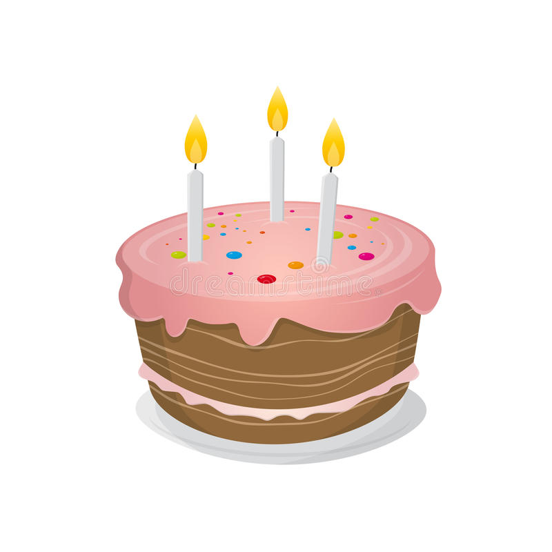 Isolated Birthday Cake Illustration Stock Vector ...