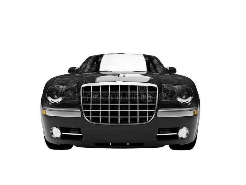 Isolated black car front view3 vector illustration