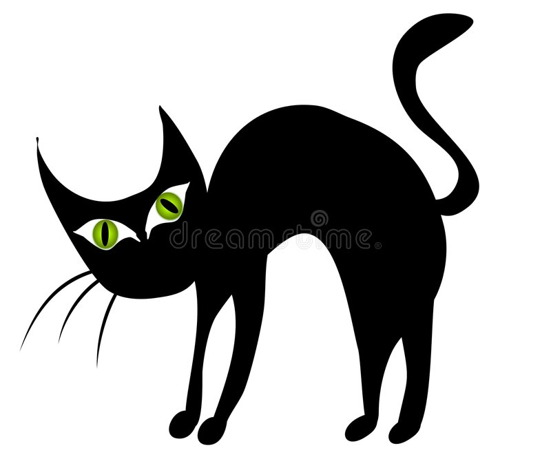 isolated black cat clip art 2 stock illustration illustration of rh dreamstime com black cat clip art free black cat clip art black and white