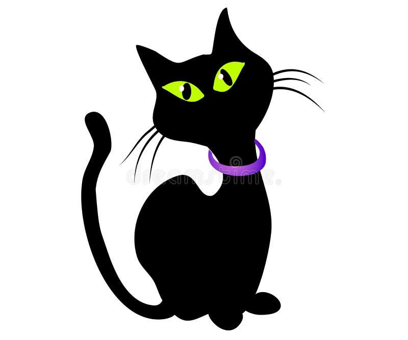 Isolated Black Cat Clip Art royalty free illustration