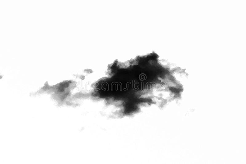 Isolated black clouds on white sky. Set of isolated clouds over white background. Design elements. Black isolated clouds. Cutout e royalty free stock images
