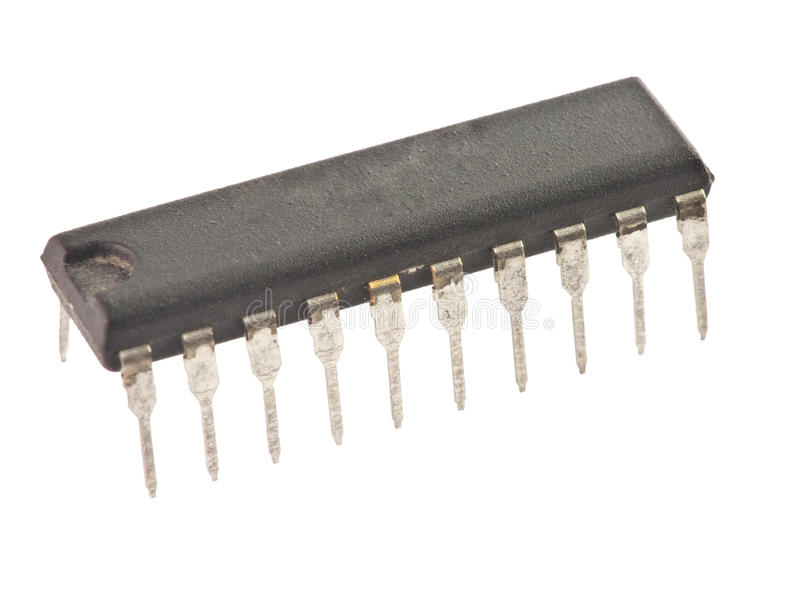 Download Isolated black microchip stock photo. Image of hardware - 23993870
