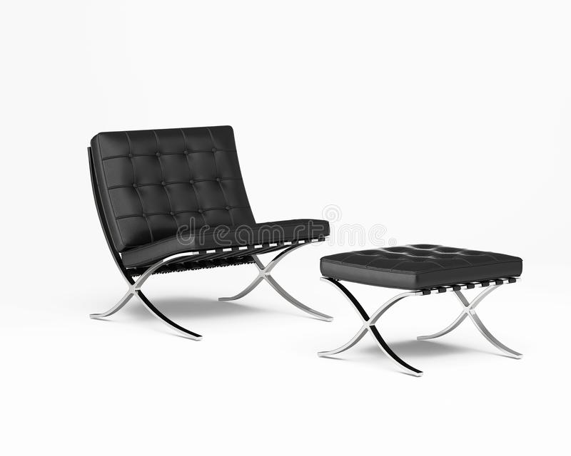 Isolated black  modern design chair royalty free stock photo