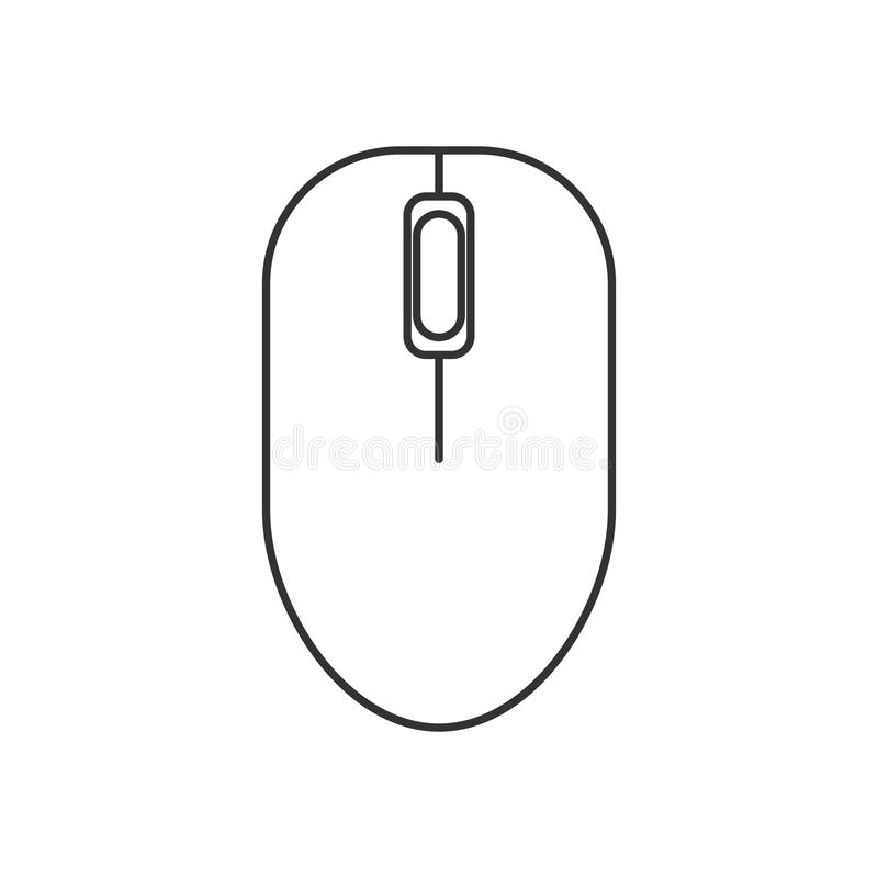 isolated black outline computer mouse on white background line icon rh dreamstime com computer optical mouse circuit diagram computer mouse circuit diagram