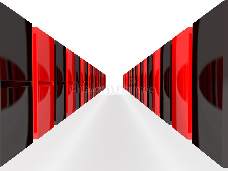 Download An Isolated Black And Red Domino Blocks Stock Illustration - Illustration: 7745457