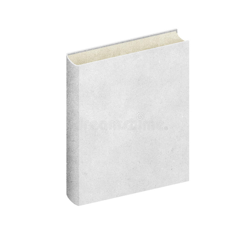 Isolated Blank book recycled paper stock photo