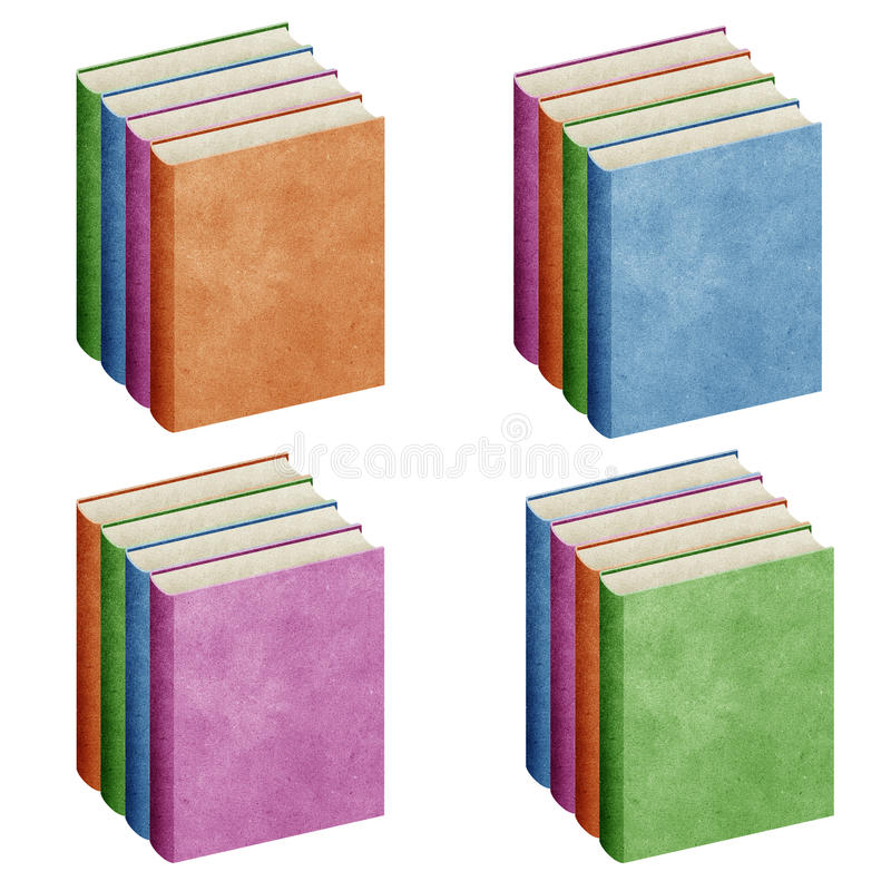 Isolated Blank book recycled paper royalty free illustration