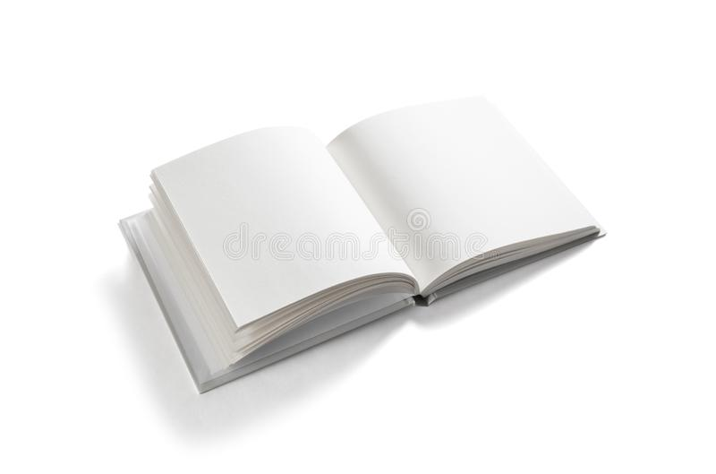 Isolated blank book stock photo