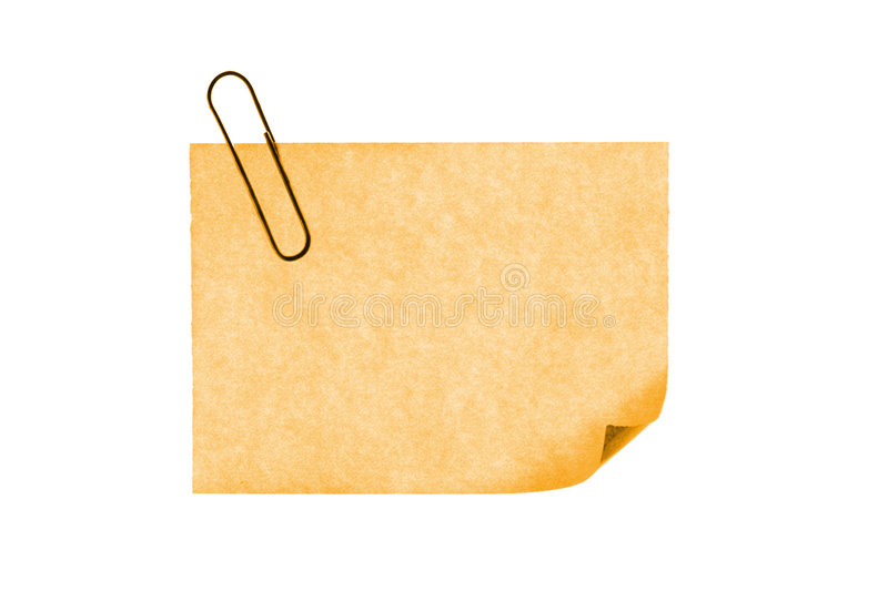 Download Isolated Blank Postit Paper On Withe Background Stock Image - Image: 5280649