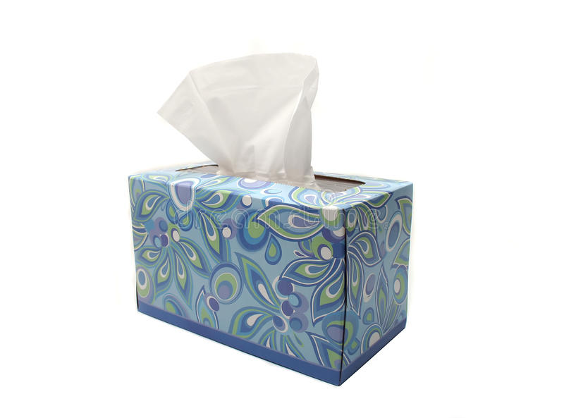 Isolated Blue Box of Tissues stock photography