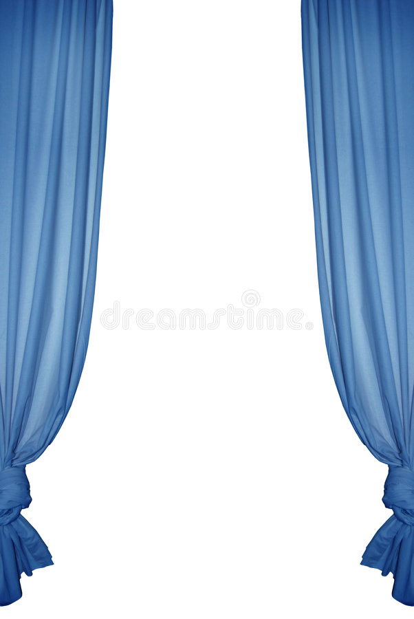 Isolated blue curtain royalty free stock image