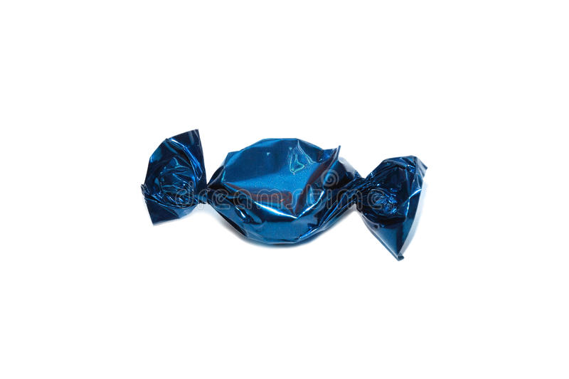 Isolated blue toffee stock photography