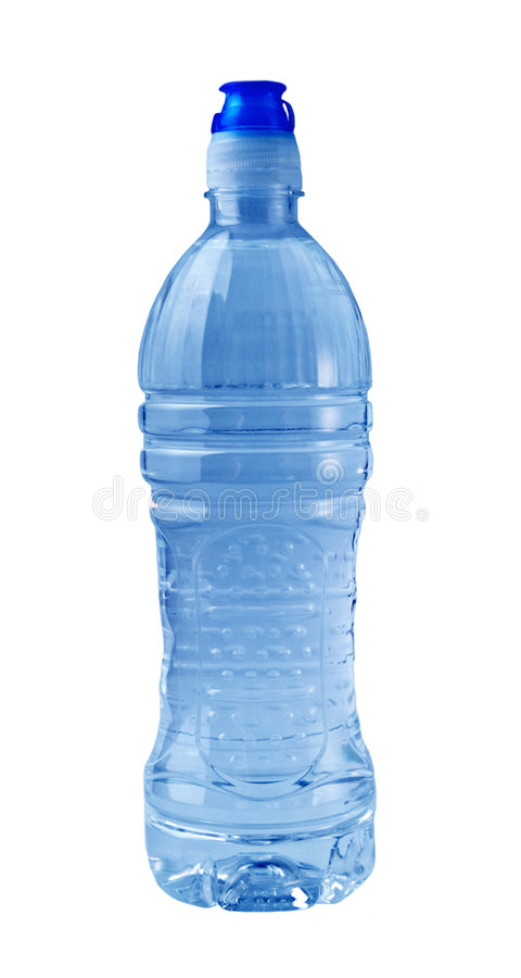 Isolated Blue Water Bottle royalty free stock image