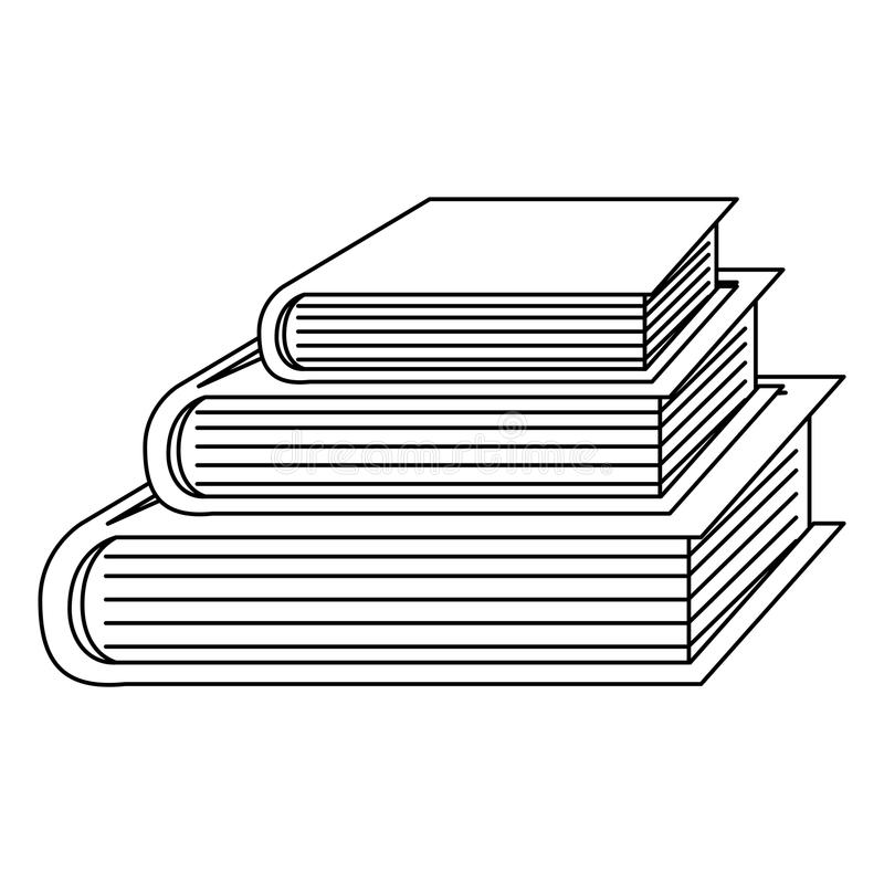 Isolated book of School concept design royalty free illustration
