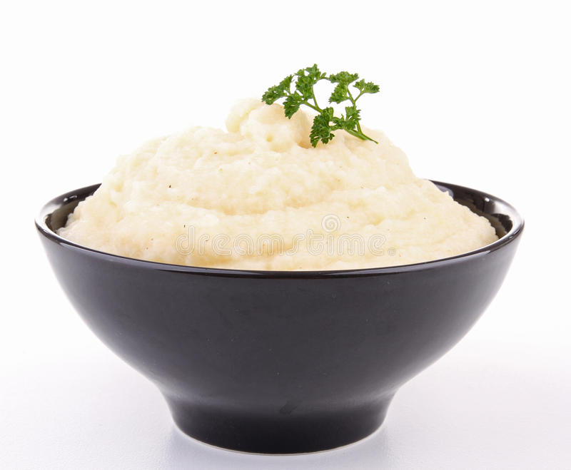 Isolated bowl of puree royalty free stock image