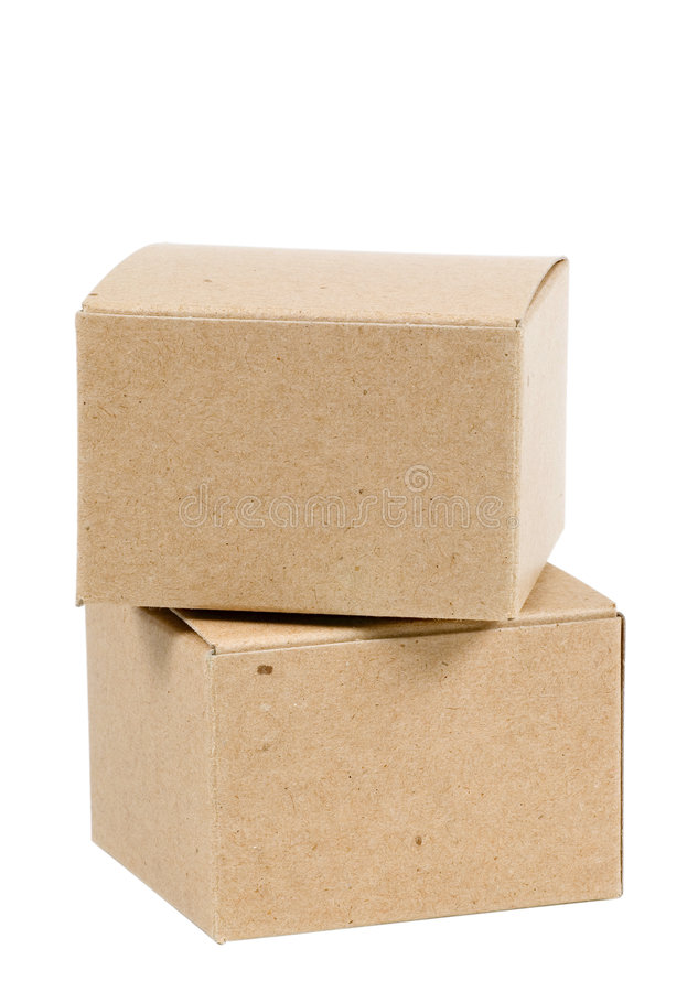Isolated Boxes stock images