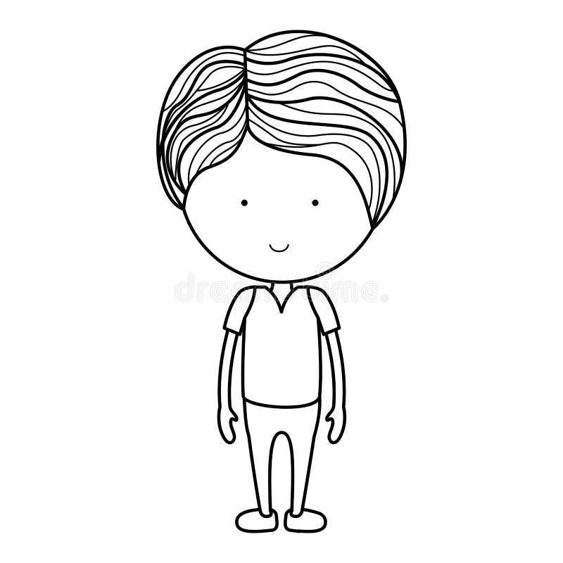 Isolated boy cartoon design. Boy cartoon icon. Kid childhood little and people theme. Isolated design. Vector illustration vector illustration