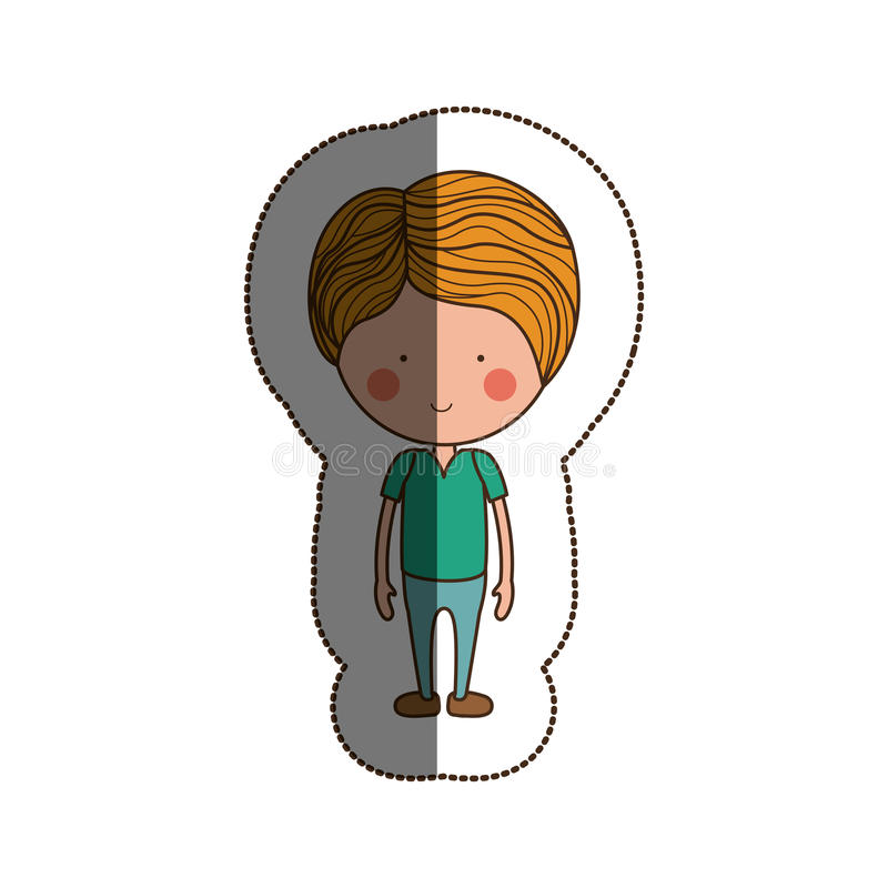 Isolated boy cartoon design. Boy cartoon icon. Kid childhood little and people theme. Isolated design. Vector illustration royalty free illustration