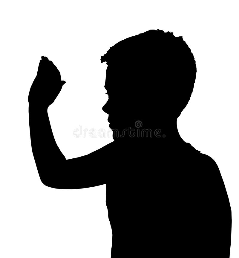 Isolated Boy Child Gesture High 5 Wave stock photos