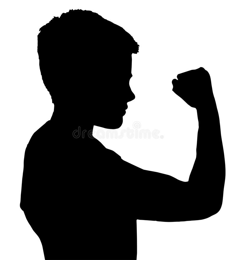 Download Isolated Boy Child Gesture Showing Fist Stock Photo - Image: 19956270